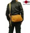コンパクトなボックス型ショルダーバッグ(馬革)