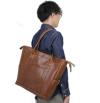 ba162-12 クラシカルな雰囲気のシンプルトートバッグ(牛革/日本製)
