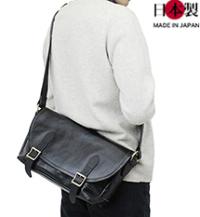 ba216-thu ホースハイド メッセンジャーバッグ(馬革/日本製)