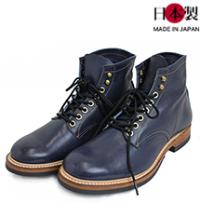 bo1-thuワークブーツ インディゴホース/ヴィンテージクロムホース(馬革/日本製)