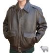 革フライトジャケットA2(アンティックラム)シンプル