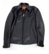 美シルエット襟付きライダースジャケット(馬革)コラージュホース革ジャン日本製
