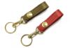 ベルトにも付けられる、シンプルな革キーリング(牛革