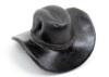 ミニチュアサイズの革ウエスタンハットキーホルダー(牛革)