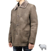 ムートンランチコート(羊革)