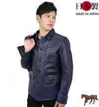 lj108-thuインディゴホース スポーツジャケット(馬革/日本製)