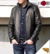 ウィングカラージャケット(牛革)スリムオイルレザー【レザーハウスオリジナル】日本製