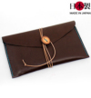 龍馬の家紋入り手縫い本革パスポートケース(牛革)