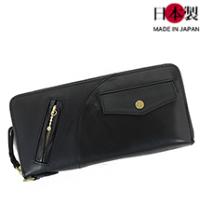 sa159-thu ライダースジャケットを模したラウンドファスナー長財布 (馬革/日本製)