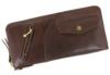 sa159-br ライダースジャケットを模したラウンドファスナー長財布 (馬革/日本製)