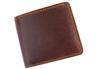 sa164-br 2色のステッチが彩り鮮やかな二つ折り財布(牛革/日本製)