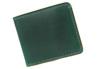 sa164-gr 2色のステッチが彩り鮮やかな二つ折り財布(牛革/日本製)