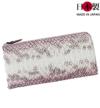 sa166-01  薄手なのに収納力は抜群!淡いグラデーションが美しいヘビ革長財布(ヘビ革/日本製)