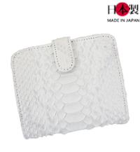sa173-thu ブランパイソン二つ折り財布(ヘビ革/日本製)
