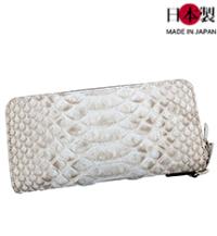 sa183-thu 大蛇を使用したダブルファスナー長財布(蛇革/日本製)