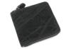 sa202-08 エレファントラウンドファスナー二つ折り財布(象革/日本製)