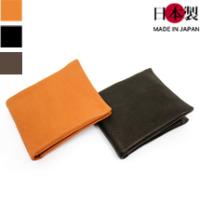 肌に吸い付くようなディアスキン二つ折り革財布(鹿革)