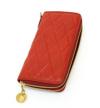 大胆でグラマー!品のある豊満なキルティング革財布(牛革)