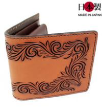 職人の技が堪能できる堅牢なフリーカット折財布(牛革)