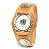 希少な高級革の3コンチョ革腕時計コードバン(馬革)
