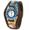 w26-02 彩り鮮やかな3コンチョ腕時計(牛革/日本製)