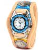 w26-03 彩り鮮やかな3コンチョ腕時計(牛革/日本製)