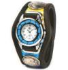 w26-04 彩り鮮やかな3コンチョ腕時計(牛革/日本製)