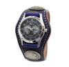 色使いがオシャレな3コンチョ革腕時計ダブルステッチ(牛革)